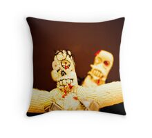 Zombie Doll Attack-3 Throw Pillow