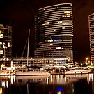 Melbourne Docklands at Night 6538 by Kayla Halleur