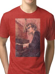 DYLAN AT THE PIANO Tri-blend T-Shirt