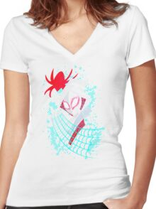 Spider-Gwen TAS Women's Fitted V-Neck T-Shirt