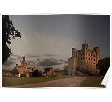 Rochester Castle, Kent, UK Poster