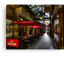 Cafe alley Canvas Print