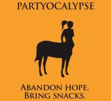 "Partyocalypse! (""No Lies"" black design) by jezkemp"