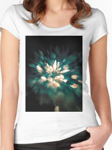 fireworks 3 Women's Fitted Scoop T-Shirt