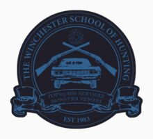 Winchester School of Hunting - Logo Sticker by digitalsprawl