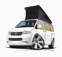 VW T5 California Camper Van White by Richard Yeomans