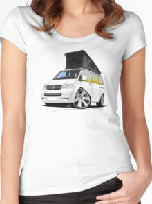 VW T5 California Camper Van White Women's Fitted Scoop T-Shirt