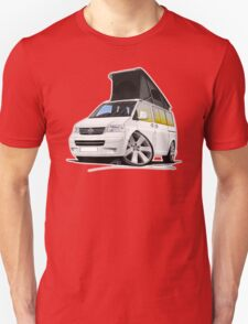 VW T5 California Camper Van White T-Shirt