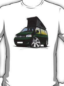 VW T5 California Camper Van Dark Green T-Shirt
