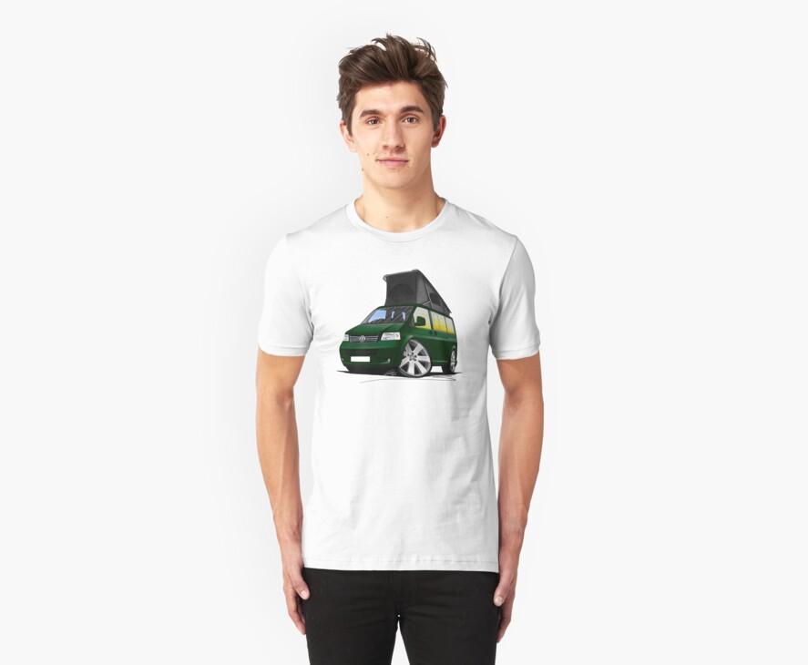 VW T5 California Camper Van Dark Green by Richard Yeomans