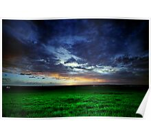 Hervey Bay Farm Sunset Poster