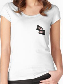 Pro Era VHS Tapes Women's Fitted Scoop T-Shirt