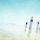 Goup Meditation in the beach of Barcelona by Wari Om  Yoga Photography