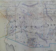 Vintage Map of Arizona (1866) by BravuraMedia