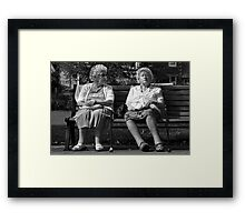 I said, are you listening to me ? Framed Print