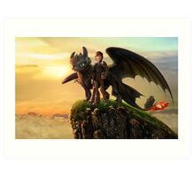 How to Train Your Dragon Art Print