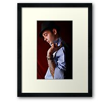 Reflecting after a night out Framed Print