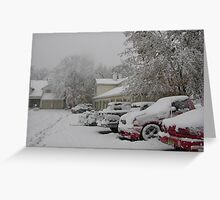 October Snowstorm Greeting Card