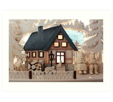 Christmas Decoration - Made in Saxony Art Print