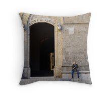 The Old Man of Siena Throw Pillow