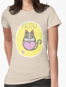 Tiggle Cat Womens Fitted T-Shirt