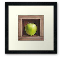 """""""Green apple"""" Framed Print"""