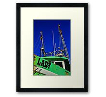 Lady Shrimper  Framed Print
