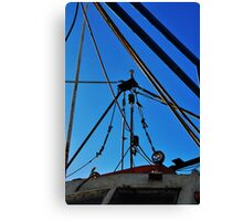 Shrimp Boat Rigging  Canvas Print