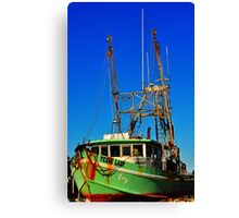 Texas Lady Shrimp Boat Canvas Print