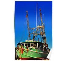 Texas Lady Shrimp Boat Poster