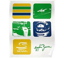 Ayrton Senna Design Poster