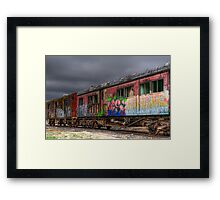 Painted Carriages Framed Print