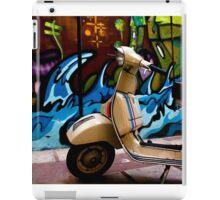 STREET GRAFFITI WALL AND RETRO VINTAGE VESPA SCOOTER MOTORCYCLE iPad Case/Skin