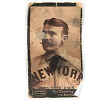 Benjamin K Edwards Collection Monte Ward New York Giants baseball card portrait 001 Poster