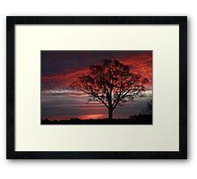Red Skies At Dawn Framed Print