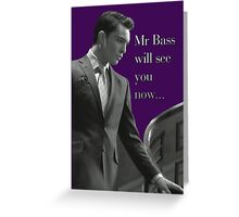 Mr Bass  Greeting Card