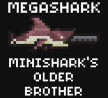 MegaShark Gun Terraria White Writing by Funkymunkey