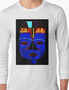 Blue Mask by Josh T-Shirt Long Sleeve T-Shirt