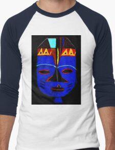 Blue Mask by Josh T-Shirt Men's Baseball ¾ T-Shirt