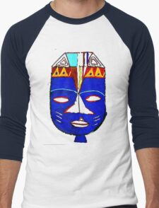 Blue Mask by Josh 2 T-Shirt Men's Baseball ¾ T-Shirt