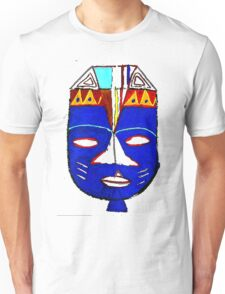 Blue Mask by Josh 2 T-Shirt Unisex T-Shirt