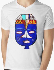 Blue Mask by Josh 2 T-Shirt Mens V-Neck T-Shirt