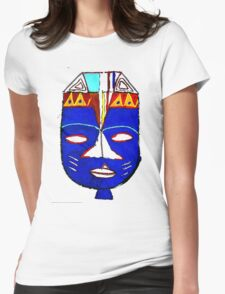 Blue Mask by Josh 2 T-Shirt Womens Fitted T-Shirt