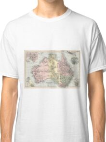 Vintage Map of Australia (1891) Classic T-Shirt