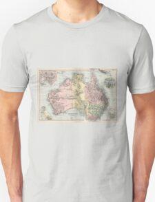 Vintage Map of Australia (1891) Unisex T-Shirt