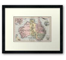 Vintage Map of Australia (1891) Framed Print