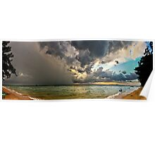 Making Ends Meet - Storm front Panorama Sunset Poster