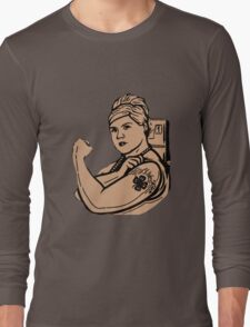 Pam tuff girl Long Sleeve T-Shirt