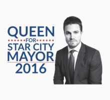 Queen For Star City Mayor 2016 - Oliver Queen Edition One Piece - Short Sleeve