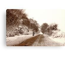 Ormskirk - Snow Canvas Print
